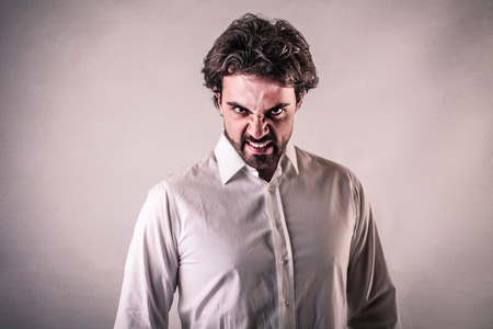 enraged: evil man