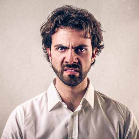 angry face man