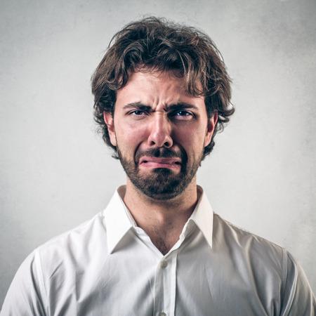un homme triste: triste homme Banque d'images