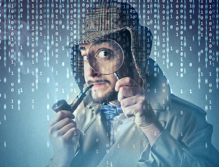 decipher: research guy  Stock Photo