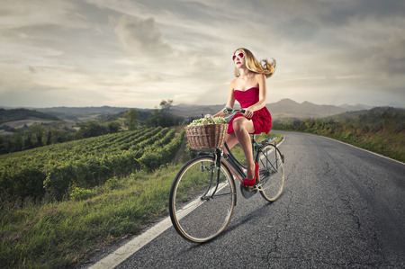 wineyard: riding in the countryside