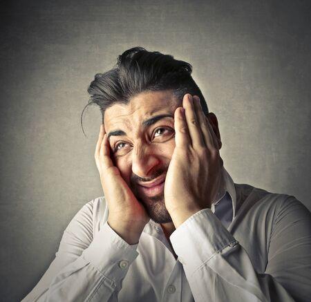 despaired: despaired man Stock Photo