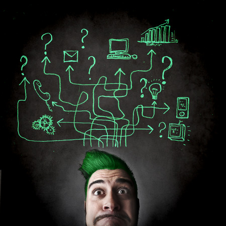 demand: technological face Stock Photo