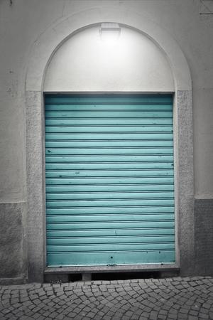 portcullis: closed shop Stock Photo