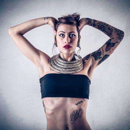 tattooed: different beauty Stock Photo