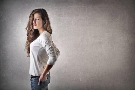 jolie fille: jolie fille Banque d'images