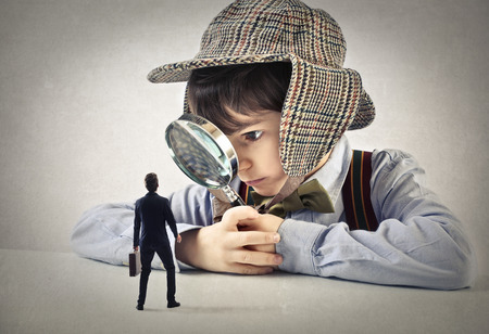 children: небольшой бизнесмен Фото со стока