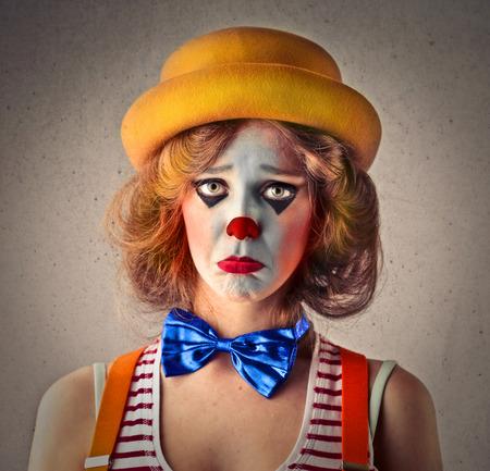 clown cirque: clown triste Banque d'images