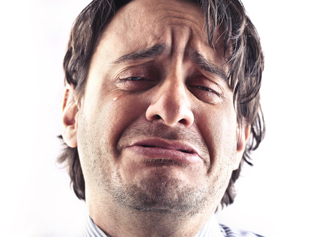 ugly man: sad man