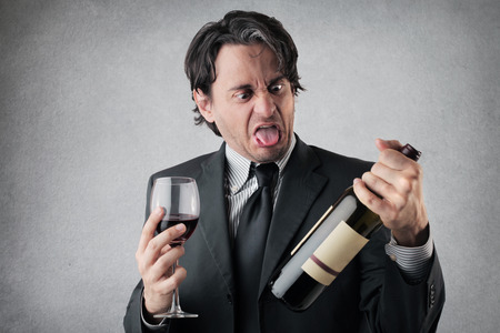 preoccupation: dreadfuls wine Stock Photo