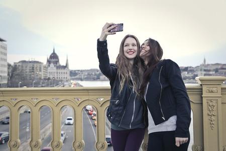 taking a selfie 写真素材