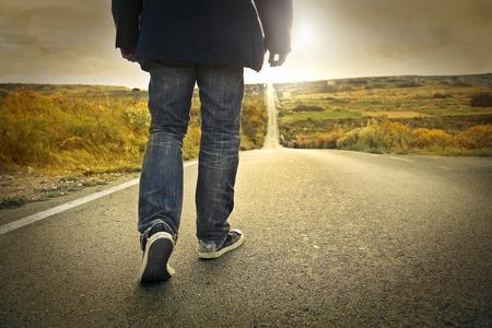 歩く 写真素材