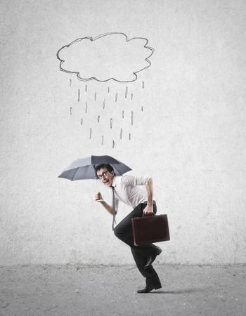 man: rain Stock Photo