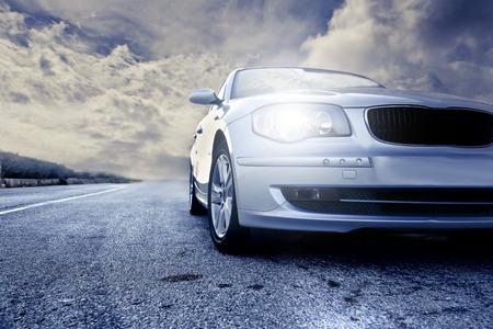 route: voiture Banque d'images
