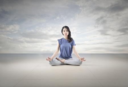 woman meditation: meditation