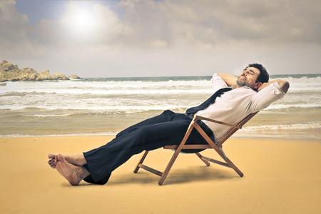 man on vacation photo