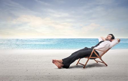 strandstoel: vakantie Stockfoto