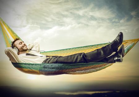 persone relax: amaca Archivio Fotografico