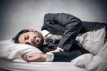 ぐっすり眠る 写真素材