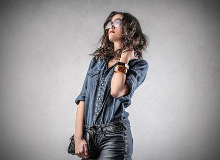 snobby: great girl Stock Photo