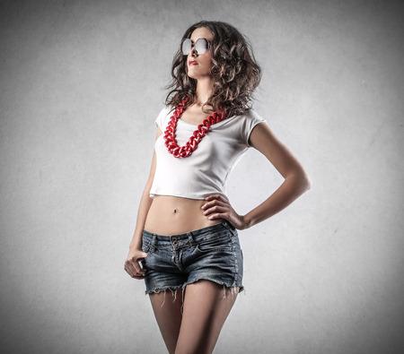 snobby: moda ragazza Archivio Fotografico