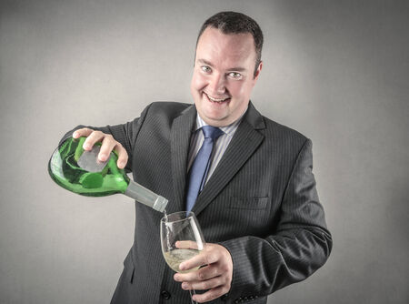 jubilating: Pouring a drink