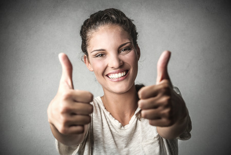 thumbs up: Thumbs up! Stock Photo
