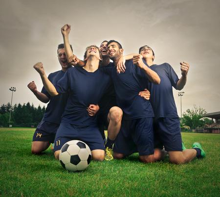 pelotas de futbol: Equipo de f�tbol Foto de archivo