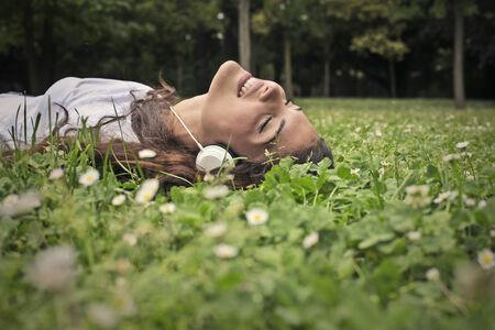 Feeling free in a green field