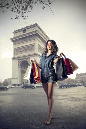 chicas guapas: Bolsas de la compra