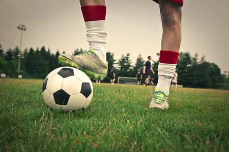 A footballer ready to play
