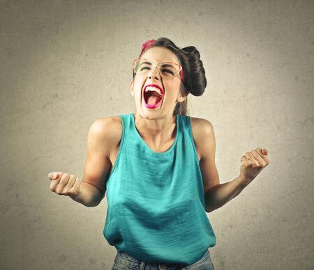 jubilating: Jubilating woman