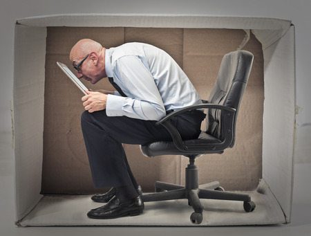 stupor: Boss in the box Stock Photo