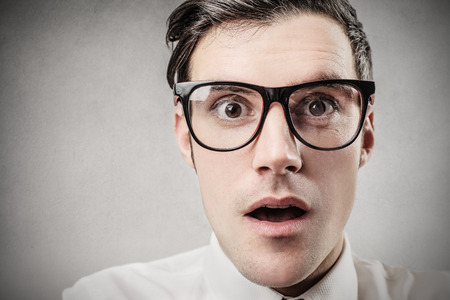 surprises: Surprised businessman