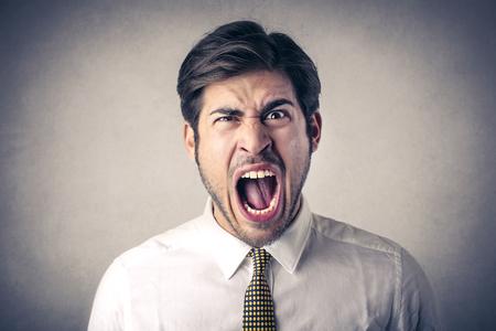 Angry man Imagens
