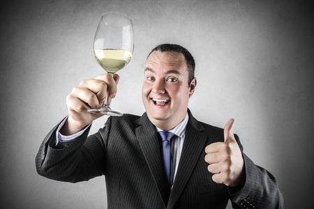 jubilating: A good glass of wine Stock Photo