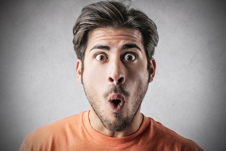 astonishment: Surprised man