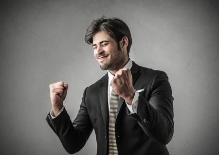 jubilating: Jubilating businessman