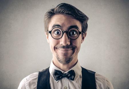 caras graciosas: Hombre feliz
