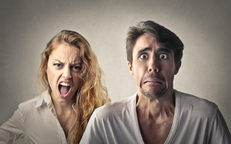 Angry with her boyfriend photo