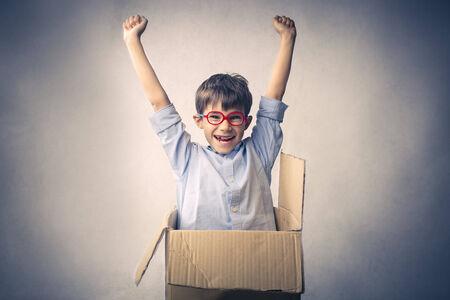 jubilating: Little kid jubilating