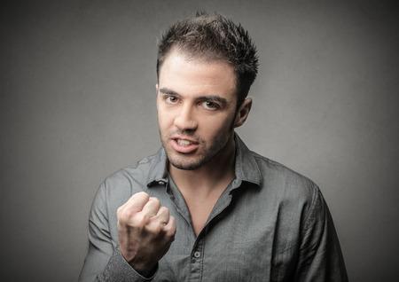 enrage: Angry man Stock Photo