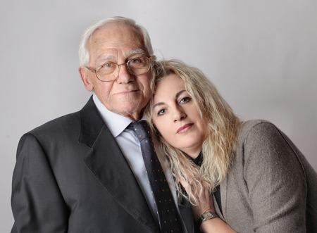 enrage: Grandfather Stock Photo