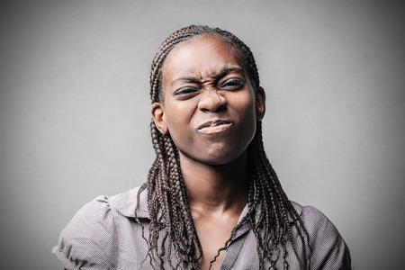 Woman playing jokes photo