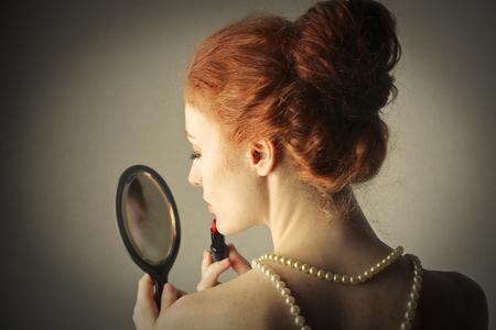 womans: Lipstick Stock Photo