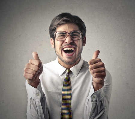 jubilating: Jubilating business Stock Photo