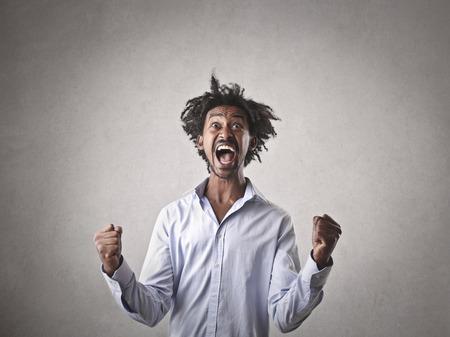 jubilate: jubilating man