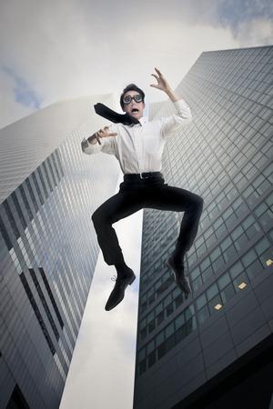 entire: Jumping down an entire skyscraper