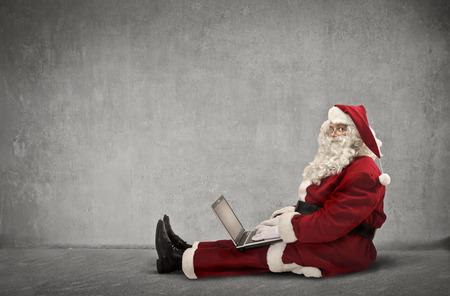 Santa gebruikt technologie