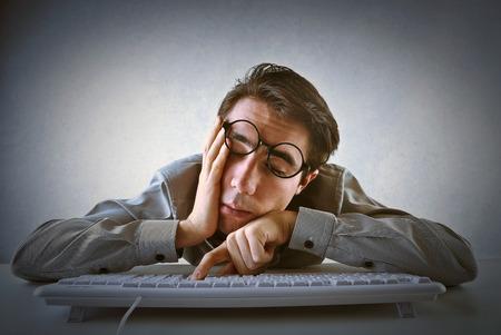 teclado: Cansado empleado